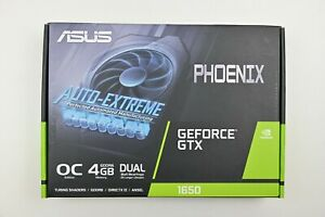Asus Phoenix GeForce GTX 1650 4 GB GDDR6  1x DP 1x HDMI 1x DVI New Graphics Card