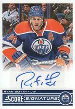 2013-14 Score Hockey Signatures #SS-SMY Ryan Smyth Auto Edmonton Oilers
