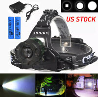 Mining Cave Light Headlight LED 10000 Lumens 400,000+ LUX Headlamp Zoomable New