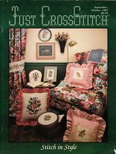 Just Cross Stitch Magazine Sept/Oct 1987 Home Decor Stitch in Style Cover