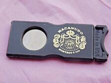 Four (4) VTG CIGAR CUTTERS TRIMMER MACANUDO MONTEGO y CIA GUILLOTINE PROMO USA