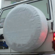 "17"" DIY Trailer Spare Tire Tyre Wheel Cover Pure White Heavy Duty Vinyl Material"