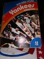 1971 New York Yankees Yearbook, Thurman Munson, Mel Stottlemyre