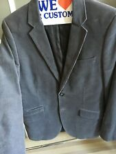 H&M men's grey corduroy blazer with two Buttons  and two front pockets