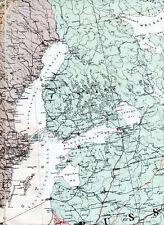 FIN Sverige Norge Danmark Memel 1916 orig Teil-Kriegskarte/Ln. Eesti Riga Wyborg
