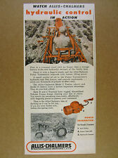 1949 Allis-Chalmers Model B & C Tractors Power Transmitter vintage print Ad
