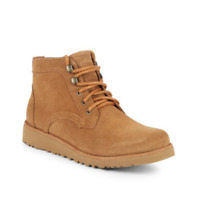 UGG for Little Boy's Shearling Lined Suede Chukka Boots Chestnut sizes 4-6 *NIB*