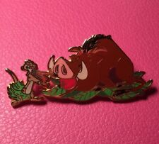 DISNEY PIN - Lion King TIMON Hula Dancing PUMBAA with Apple in Mouth Auctions LE