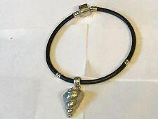 Concha De Mar TG125 de estaño bien inglés en una pulsera serpiente de imitación de cuero