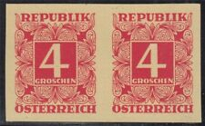 Österreich 1949 Nr. 234 PU (*) PAAR ungezähnt tadelos Befund BPP