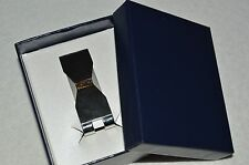DOLAN BULLOCK Man's Smoky Topaz Stainless Steel and 18K Yellow Gold Money Clip