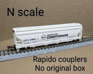 ACF 4 bay covered hopper car N scale Bachmann white Conditonaire Center flow RR