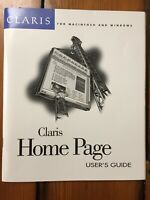 Vtg 1996 Claris Home Page Apple Mac Windows Users Guide Web Page HTML Booklet