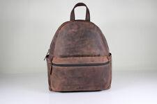 Bayern Bag Vintage City Rucksack Backpack Leder Daypack Braun Damen Herren