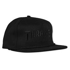 Thrasher Skateboard Hat Rope Snapback Black/Black