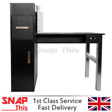 Nail Table Desk Manicure Salon Technician Art Pedicure Workstation Storage Fan