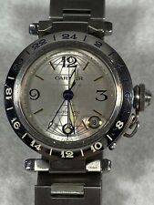 Cartier Pasha GMT Automatic Stainless Steel 2377