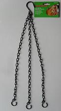 "Hanging Basket Chain, 3 Strand, Black Finish, 19"" 48cm by SupaGarden SGS155"