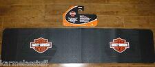 Harley-Davidson Orange Rear Runner Rubber Floor Mat by Plasticolor NEW