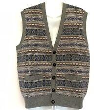 Brooks Brothers Men's Medium Fair Isle Lambswool Sweater Vest S212