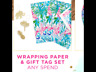 NWT Lilly Pulitzer Wrapping Gift Paper w 3 Gift Tags