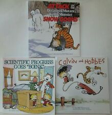 LOT OF 3 CALVIN AND HOBBES PAPERBACK BOOKS Attack Snow Goons Scientific Progress