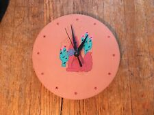 Southwest Terra Cotta Coyote Clock. Used. Sweep Second Hand. Works Great!
