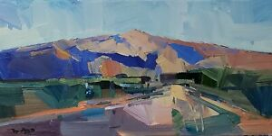 JOSE TRUJILLO Oil Painting IMPRESSIONISM LANDSCAPE COLLECTIBLE ART SIGNED