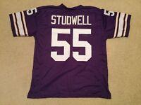 UNSIGNED CUSTOM Sewn Stitched Scott Studwell Purple Jersey - M, L, XL, 2XL