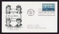 WOMEN IN OUR ARMED FORCES FDC 3C STAMP SCOTT #1013 ARTMASTER CACHET 1952