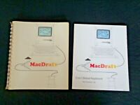 Vintage 1985 Apple Computer MacDraft Macintosh Version 1.2 IDD King User Manuals