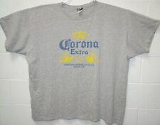 Vintage Liquid Blue Corona Extra Beer Logo T Shirt 5XL XXXXXL Gray Breweriana