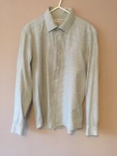 BURTON STRIPED WHITE BLUE LONG SLEEVE BUTTON DOWN SHIRT SIZE S SMALL