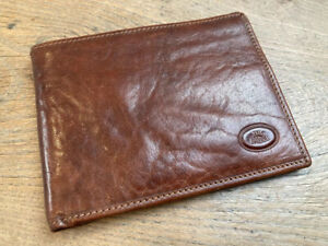 Vintage The Bridge Leather Wallet  Case Brown Purse Card Italy