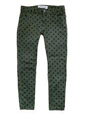 Etienne Marcel Skinny Jeans Jegging Green Black Polka Dot 27