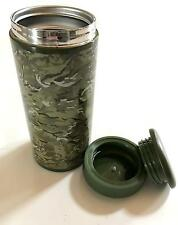 TRAVEL MUG FLASK thermo insulated travel work hiking thermos camping cup Camo