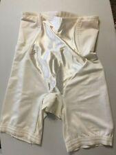 Smoothie Long Leg Panty Girdle Shaper Med White Boning High Waist Split Crotch