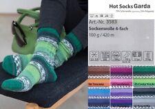 Wollpaket Sockenwolle *Gründl Hot Socks Garda, 6x100g, je eine Farbe im Set, 4f