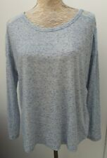 Unbranded Ladies Size 12 14 Blue Marl Tunic Top Lace Summer Fashion Jumper Knit