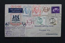 LUCHTPOSTBRIEF 1946 proefvlucht KLM naar Zuid Afrika met NVPH 454/9 & 339