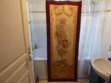 portière en tapisserie fin 19ème l'Aurore,dans le gout de Mucha,185x70cm