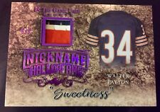 "2019 In The Game 20 Walter Payton 3 Color Patch ""Sweetness"" Purple 6/6 Bears HOF"