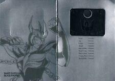 saint seiya metal plate BLACK PHOENIX, Fénix negro USED, usada mat myth cloth