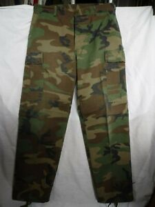 GEN. U.S ARMY ISSUE STANDARD NON RIPSTOP VERSION WOODLAND CAM COMBAT TROUSERS