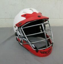 Cascade C Pro Lacrosse Helmet w/Cage & Chin Strap White/Red Size S/M Excellent