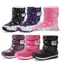 Boys Girls Snow Boots Warm Shoes Waterproof Child Kids Winter Boots Anti-slip