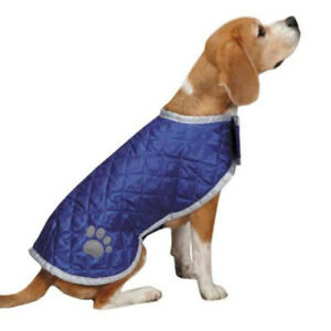 Quilted Reversible Blanket Dog Coat Jacket Reflective Rain Noreaster Pet