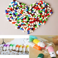 50X Message in a Bottle Capsule Love Letter Cute Cartoon Half Color Pills Drug
