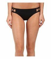 Trina Turk Womens Swimwear Ink Black Size 12 Bikini Bottoms Hipster $72 679
