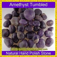 Natural Amethyst Tumbled(100gram)Good Crystals Reiki & Pranic Healing~Mix Color